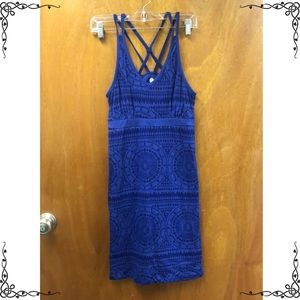 Blue dress worn once size small